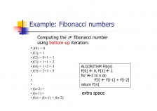 Fibonacci – recursive algorithm